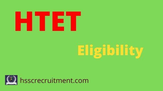 HTET Eligibility Criteria
