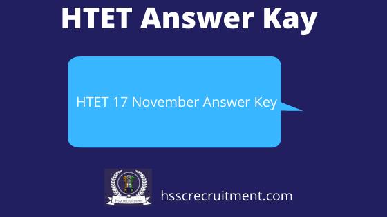 HTET Answer key