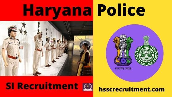 HSSC Haryana Police SI Recruitment Male 2019