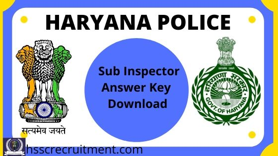 haryana police si answer key