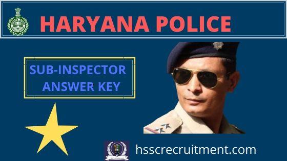 haryana police si answer key