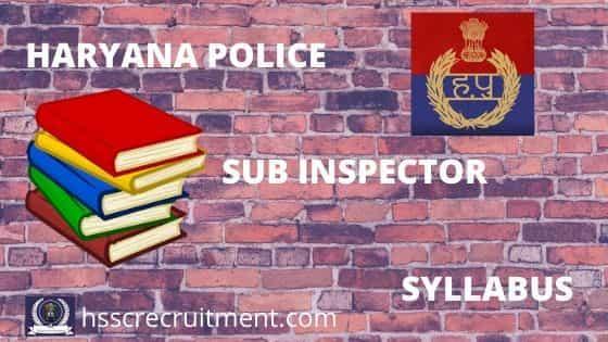 haryana police si syllabus