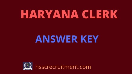 Haryana Clerk Answer Key