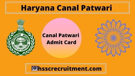 Download Haryana HSSC Canal Patwari Admit Card 2019