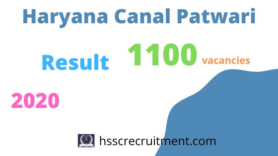 HSSC Canal Patwari Result