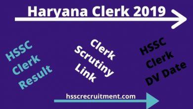 Photo of Additional Haryana Clerk Result 2019 | Check Here Revised HSSC Clerk Result 2019