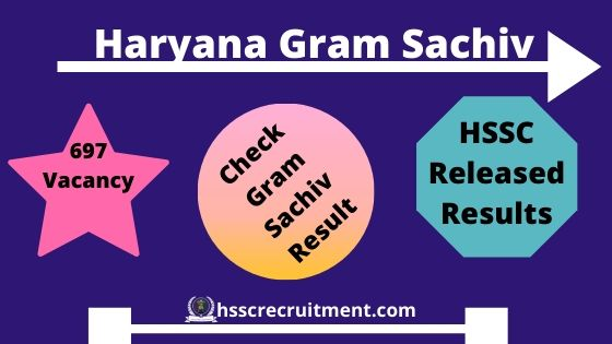 HSSC Gram Sachiv Result